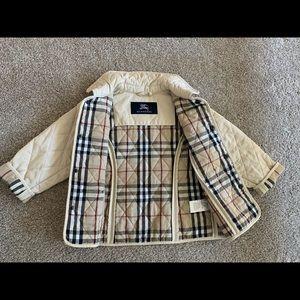 Burberry quilted jacket coat beige sz 4 yo